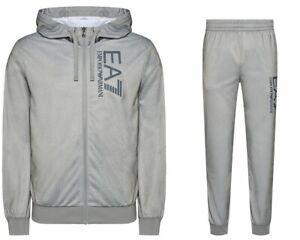 Emporio Armani 3KPV58 PJ08Z Mens EA7 Hooded Tracksuit Grey Marl Jogsuit