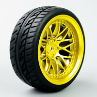 Rubber Tires Tyre and  Wheel 4PCS 1/10 Scale  For RC On Road Speed Racing Car