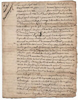 1778 Louis XVI royal notary manuscript document 3p
