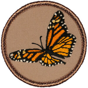 """Monarch Butterfly Patrol Patch - 2"""" Round Embroidered Patch"""