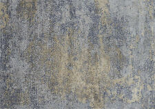 7'x7' Round Loloi Rug Patina Polypropylene | Polyester Ocean Gold Power-loomed T