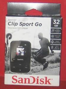 SanDisk - Clip Sport Go 32GB* MP3 Player - Black SDMX30-032G-G46K