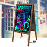 LED Double Side Sidewalk Pavement A Frame Wood Sandwich Board Dryerase Menu Sign