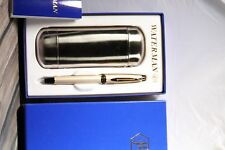 Waterman EXpert II,Champage GT Fountain pen,metal pen etui, M nib, RARE model !!