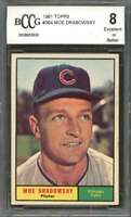 Moe Drabowsky Card 1961 Topps #364 Chicago Cubs BGS BCCG 8