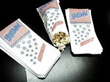 50 Popcorn Bags, Concession bags, Grease resistant bags, Food Safe Treat bags
