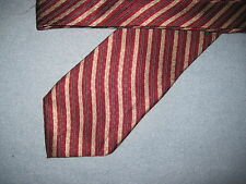 Red Striped Print Silk Tie Necktie Arrow (6653)