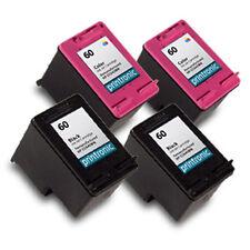 4 Pk HP 60 Ink Cartridge - DeskJet F4400 F4435 F4440 F4450 F4480 F4500 F4580