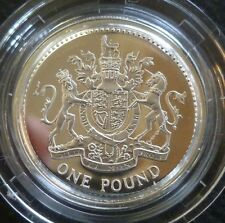 2003 Sterling Silver Proof One Pound £1 Royal Mint In Box Of Issue + COA