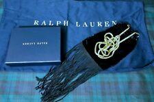cabfa1d0221f RALPH LAUREN PURPLE LABEL BLACK VELVET FRINGE LEATHER POUCH CROSS-BODY BAG