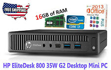 HP EliteDesk 800 G2 Desktop Mini Core i7 6700T / 2.80 GHz - RAM 16GB - 128GB SSD