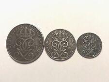 LOT SET OF 1943 coin ORE MED FOLKET FOR FOSTERLANDET SWEDEN