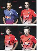 SC Freiburg - Saison 2013/14, 9 Autogrammkarten mit Originalunterschrift!