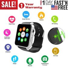 Waterproof Bluetooth Smart Watch GSM Phone Mate for iPhone IOS Android Silver