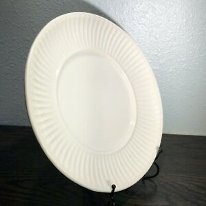 """CALIFORNIA POTTERY USA 196 White Serving Platter 11"""" Underplate for Soup tureen"""