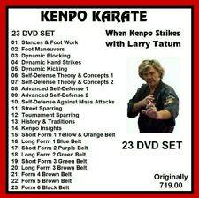 KENPO KARATE Larry Tatum 23 dvd set training series mma panther productions