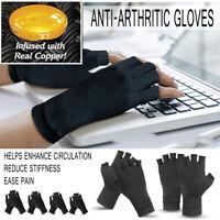 Anti Arthritis Copper Compression Therapy Gloves Rheumatoid Hands Pain