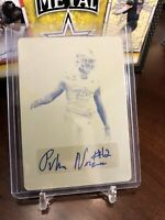 2019 LEAF METAL ALL-AMERICAN BOWL PUKA NACUA AUTO 1/1 Yellow Plate Washington
