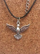 Silver Plated Large Dove of Peace Pendant Choker Chocker Necklace Free Postage