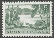 Finland 1961 MNH Definitive Stamp - Lake Scenery - Rowing Boat - Birch Trees