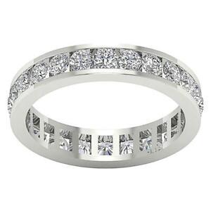 Eternity Wedding Ring Natural Round Diamond I1 G 2.25 Ct White Yellow Rose Gold