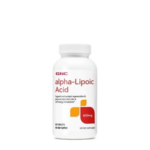 GNC alpha-Lipoic Acid 600mg 60 Caplets