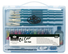 Royal Langnickel Aceite Color Pintura Set-Transparente Funda (rset-art3201)