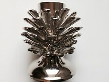YANKEE CANDLE WOODLAND SHIMMER SILVER METAL PINECONE TEA LIGHT HOLDER RETIRED
