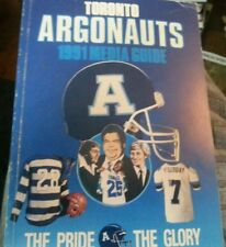 CFL Football Media Guide Toronto Argonauts 1991 Gretzky Ismail Candy Cover