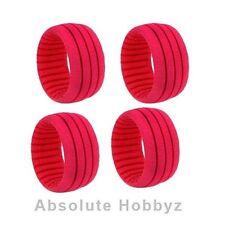 AKA Racing 1:8 Truggy Shaped Insert Grooved Red (Soft) (4PCS) AKA34101S