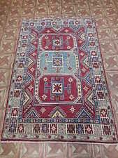 4x6 Handmade Study Lahore Weavers Area Rug Kazak Carpet