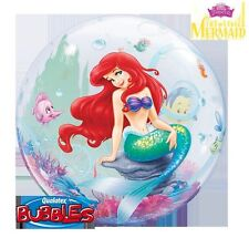 "Qualatex Disney The Little Mermaid Ariel Bubble Balloon Helium Party 22"" Round"
