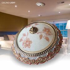 Elegante bombilla de la luz de techo Lámpara de ajuste al ras montaje Araña Cromo Y Blanco