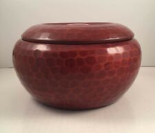 Vintage Japanese Lacquerware Bowl with Lid and a Honeycomb Design