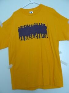 """2009 LAKERS """"REPRESENT"""" NEW XL GOLD T-SHIRT, 1-DAY CONFIRMED SHIP"""