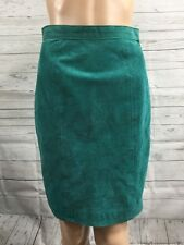 Global Identity Leather Skirt True Vintage Bright Turquoise Teal Sexy Style - XS