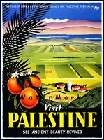 Visit Palestine 1936 Ancient Beauty Vintage Poster Print Travel Tourism  Art