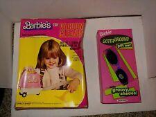 Vintage 70's Boxed Barbie Doll Vacuum Cleaner Bat Op,80's Gotta Groove Gift Set
