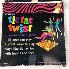 Vintage Steven's Tic Tac Twist Game Tic Tac Toe Twister NIB Herman Mo