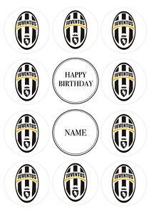 Juventus FC Football CupcakeToppers | Icing Sheet / Wafer Paper | Edible Print
