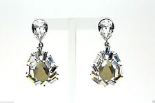 Jenny Packham Large Crystal Accent Drop Earrings