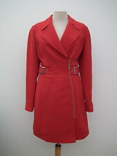 $580 NWT THIERRY MUGLER Gorgeous red mid-season coat / jacket * Size 38 - XS - S