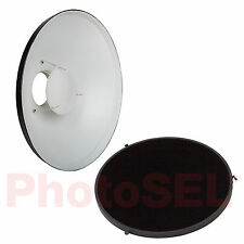 PhotoSEL FRB70BH 70cm 120 Degree Beauty Dish & Honeycomb Reflector Bowens S Type