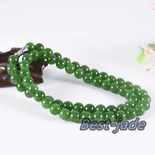 8mm Natural Nephrite Maori New Zealand Necklace Greenstone Bangle Canadian Jade