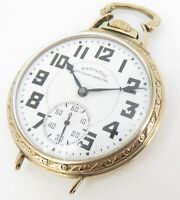 .1942 Hamilton 992B 16s 21 Jewel Gold Filled Open Faced Pocket / Wrist Watch