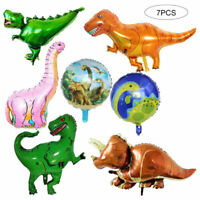 7pcs Giant Foil Dinosaur Balloons Jurassic World Birthday Party Supplies