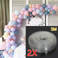 5M Balloon Decorate Strip Arch Garland Connect Chain DIY Tape Party Bar Decor C2