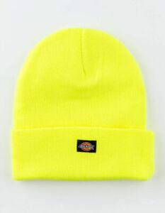 NWT Dickies Icon Cuffed Bright Yellow Knit Beanie