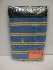 Ralph Lauren HALFTIDE STRIPE Blue Yellow Striped 2 Standard Pillowcases