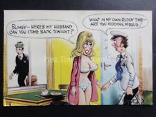 Bamforth Comic Postcard Milkman Theme BLIMEY HERE'S MY HUSBAND CAN YOU COME BACK